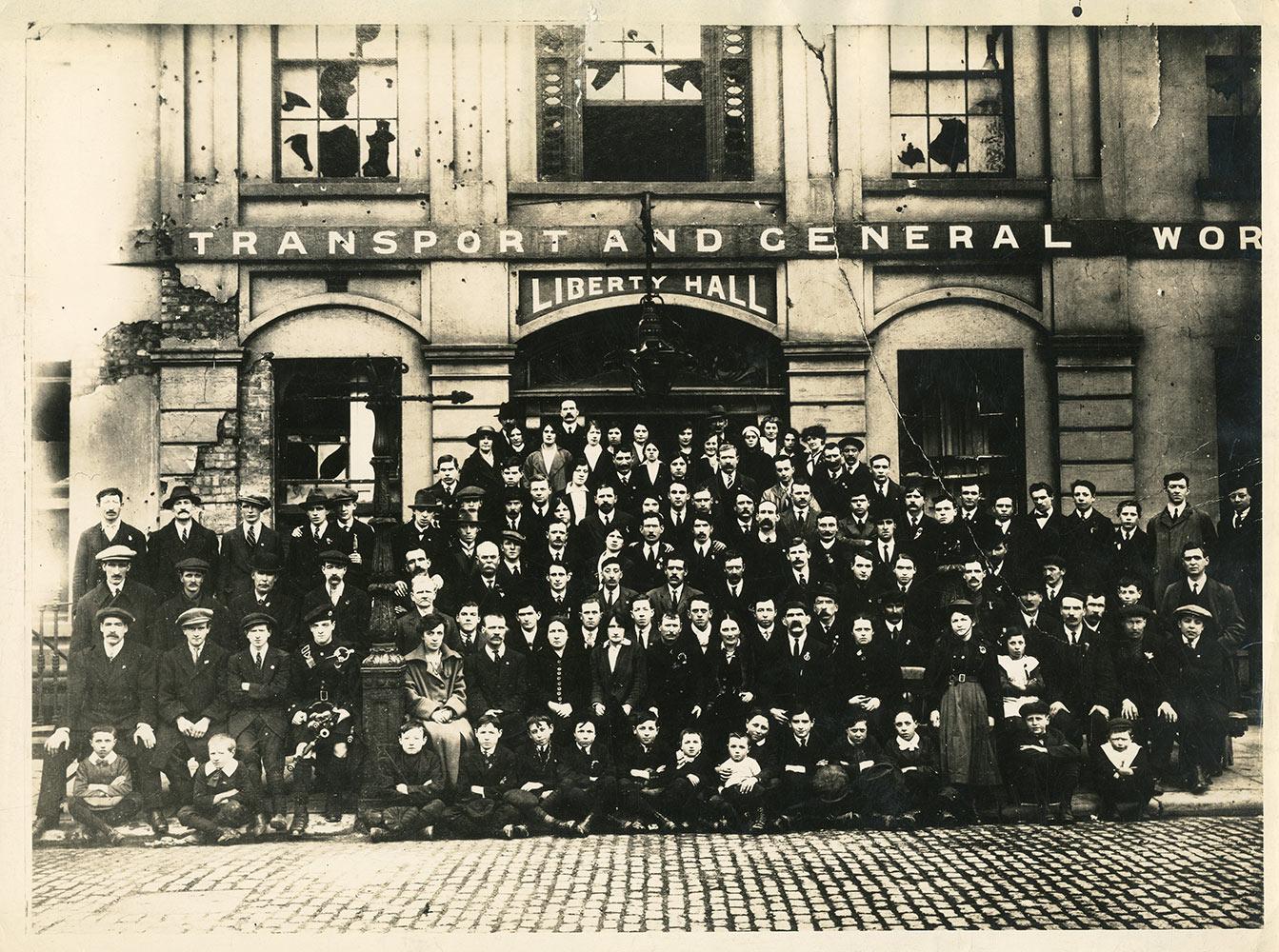 Irish Citizen Army Outside Liberty Hall 1917