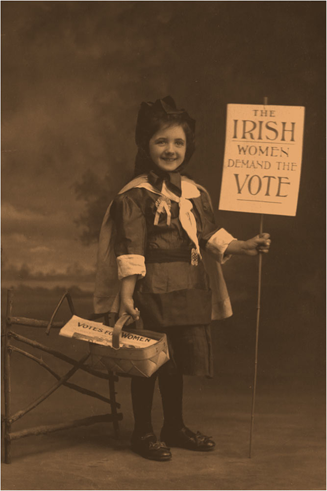 Child Holding Suffrage Card