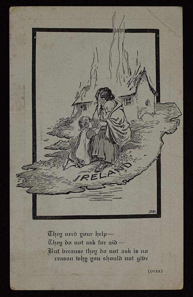 Irish White Cross postcard, Gertrude B Kelly