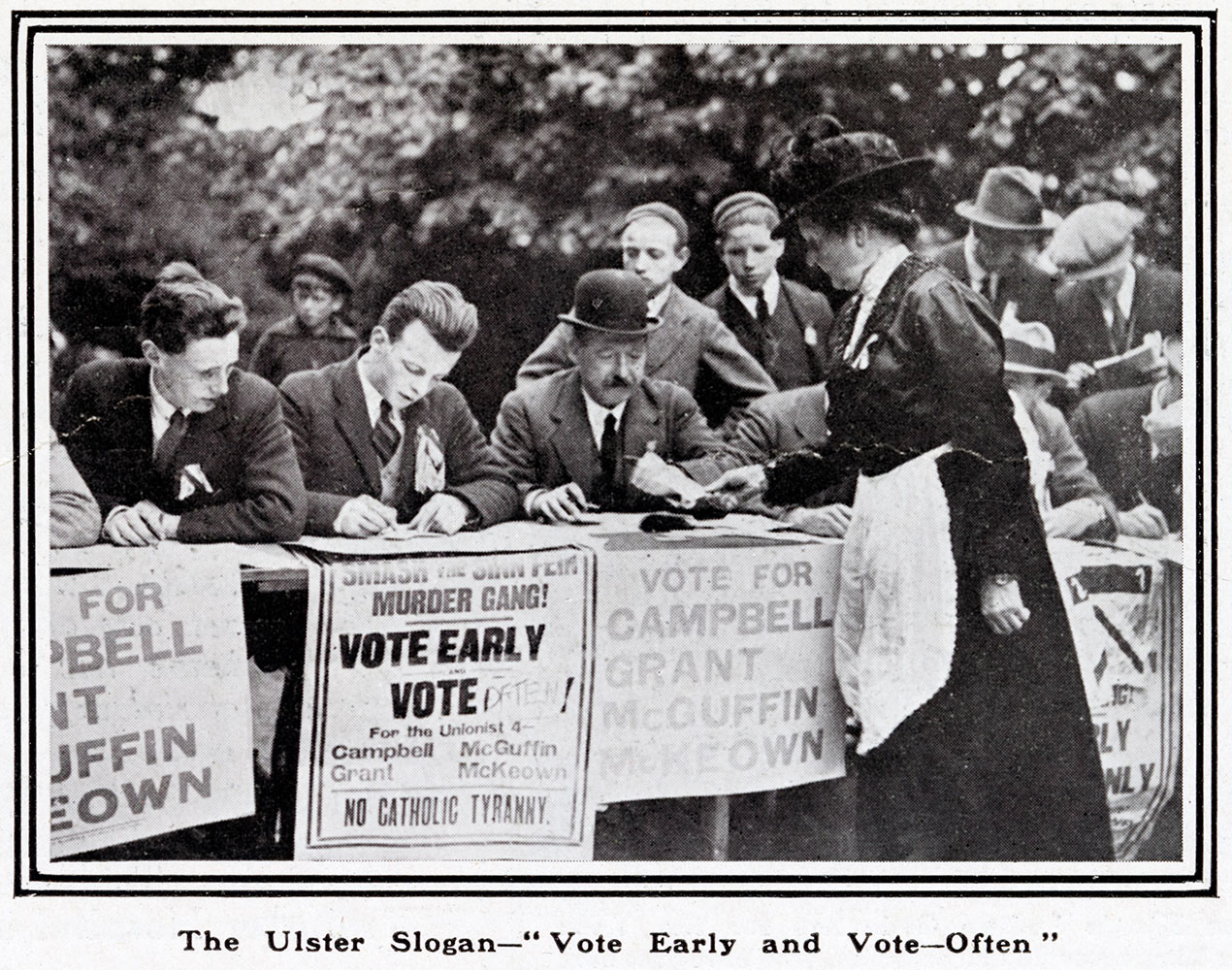 Woman voting during the Ulster elections of 1921.