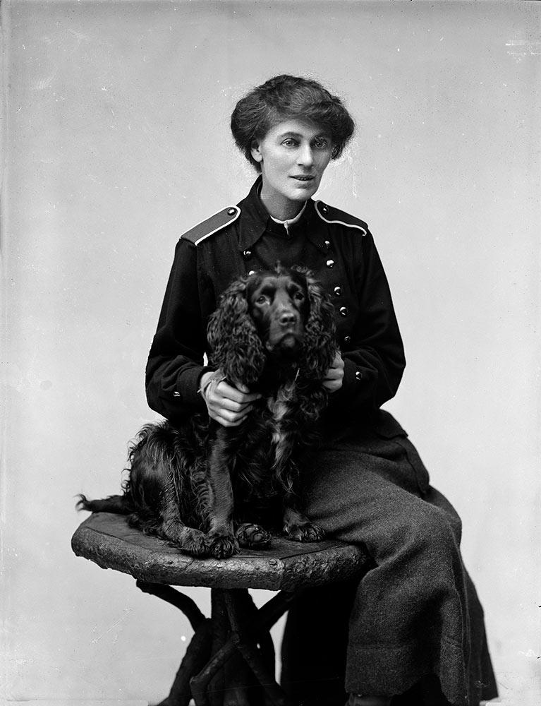 Studio Photograph of Countess Markievicz and Poppet