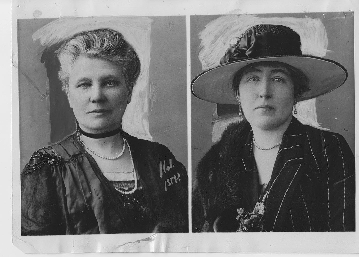 Julia McMordie CBE and Dehra Chichester OBE