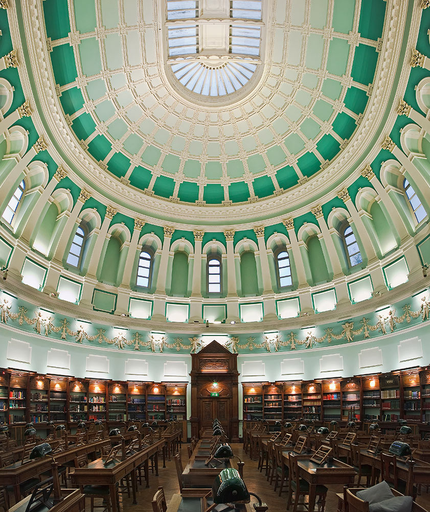 The Reading Room of the National Library of Ireland