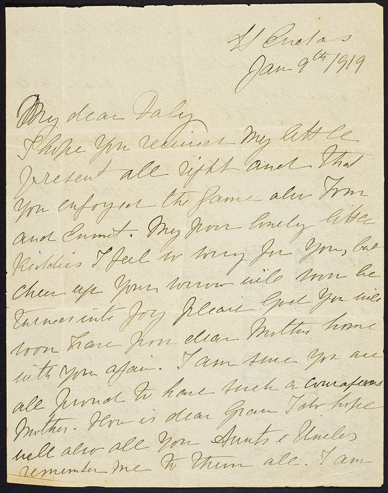 Margaret Pearse letter to Daly Clarke 1919