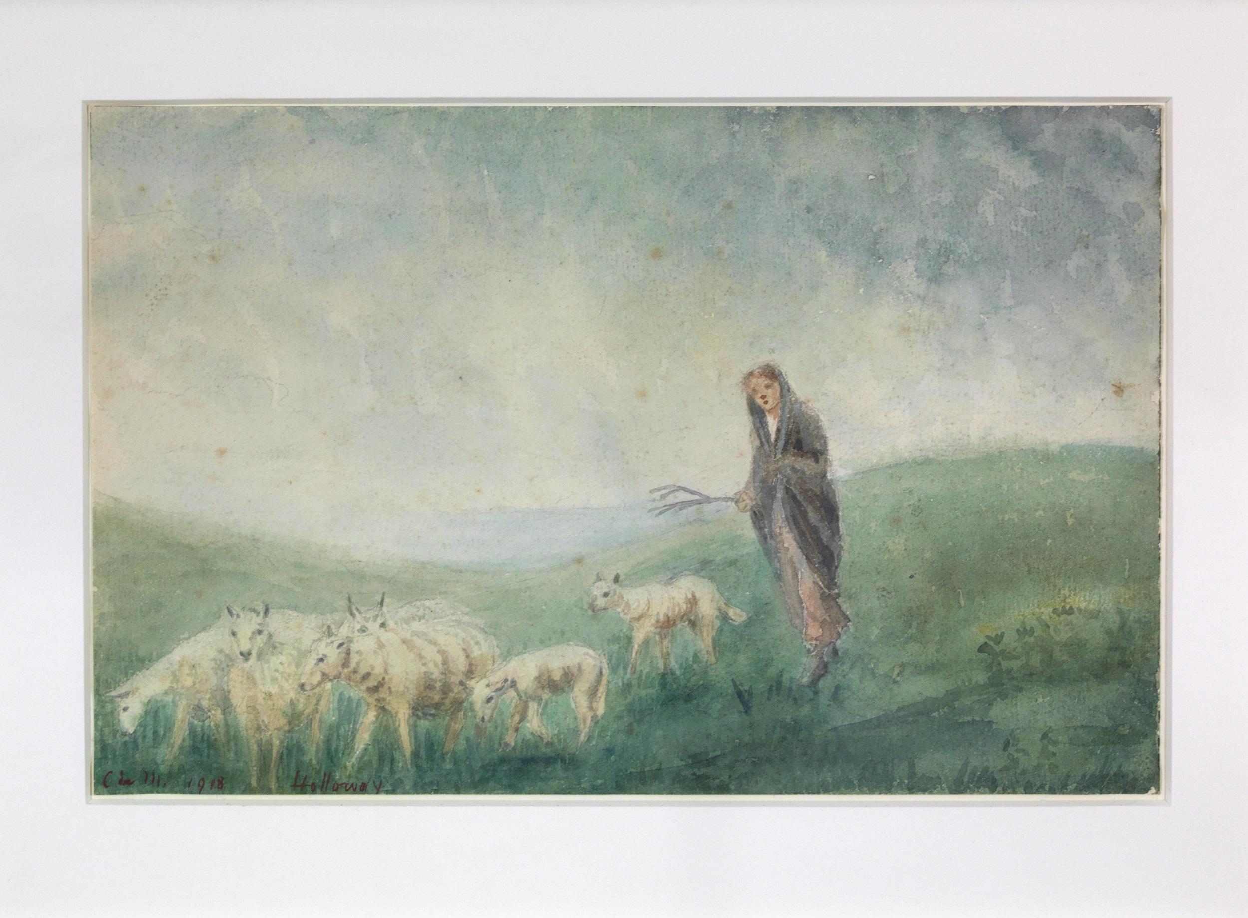 Girl Driving Sheep