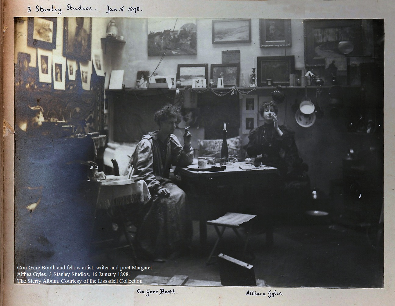 Constance Gore Booth agus a Comhealaíontóir, Comhscríbhneoir agus Comhfhile, Margaret Althea Gyles,