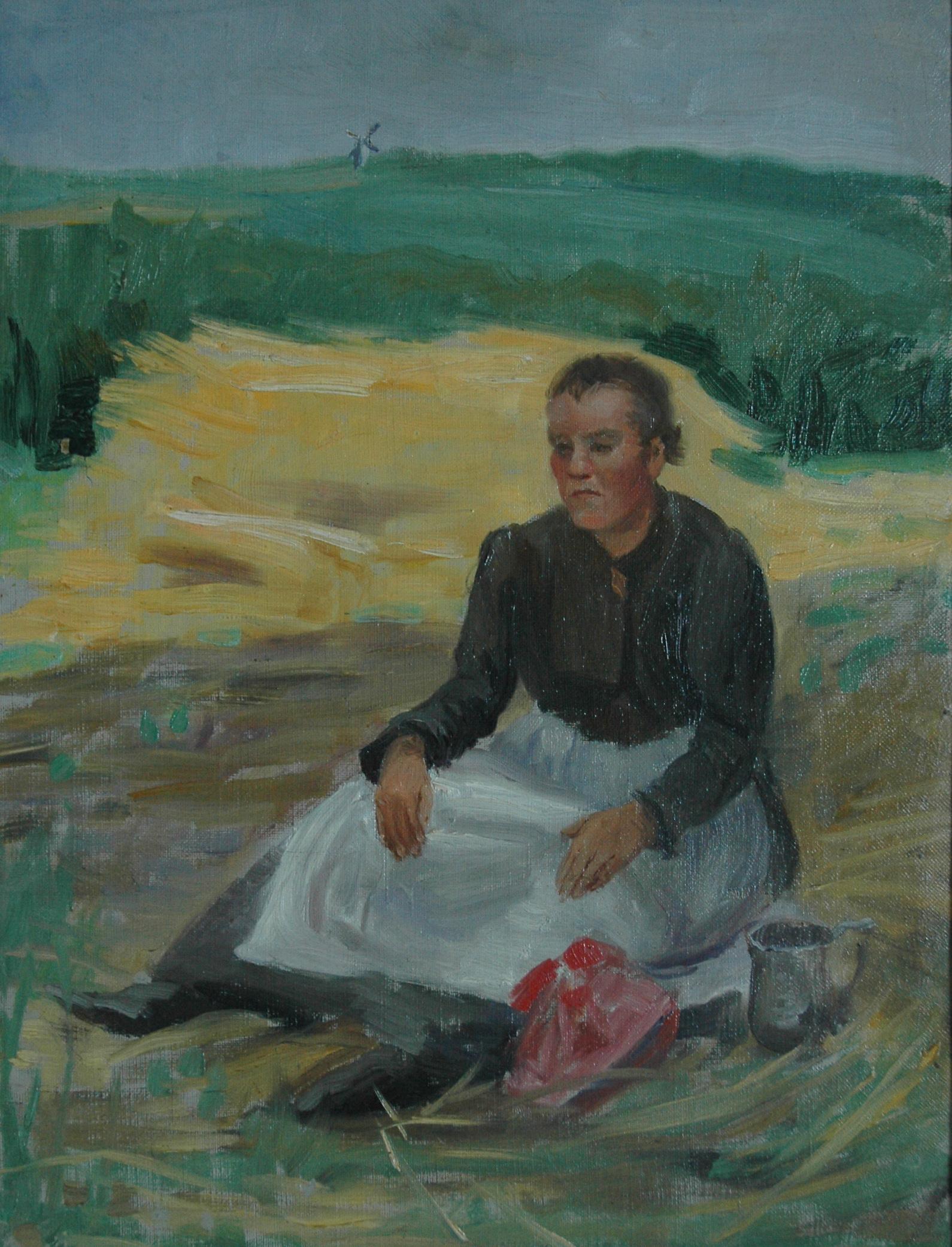 Woman Sitting, Ukraine. Le Caoinchead Bhailiúchán Lissadell.